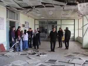 PKK'nın attığı roket hastaneye isabet etti
