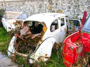 Hurda 'vosvos'u limuzine dönüştürdü