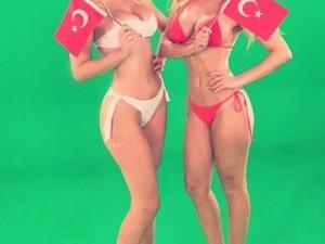 Ciciş'lerin Türk bayraklı fotoğrafına tepki yağdı