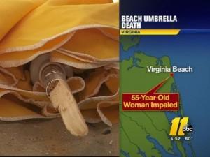 Böyle ölüm görülmedi: Göğsüne plaj şemsiyesi saplandı