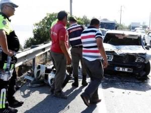 Bodrum'da 18 araç birbirine girdi
