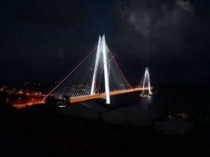 İşte Yavuz Sultan Selim Köprüsü'nde görsel şölen!