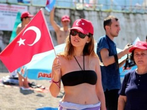 Zonguldak'ta ertelenen 30 Ağustos etkinliği yapıldı