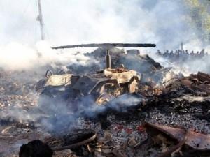 Yangın bir köyü yok etti !
