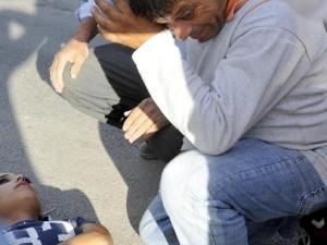 Kızını o halde görünce gözyaşlarına boğuldu