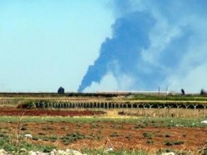 Sınırdan dumanlar yükseldi !