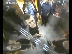 Engelliler asansörünü parçalayanlar kamerada