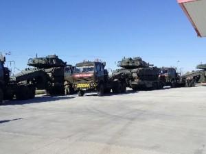 Sınıra dev zırhlı araç sevkiyatı