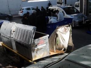 Kağıt toplama arabasından ceset çıktı