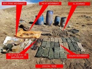 PKK'ya ağır darbe ! Mühimmatları ele geçirildi
