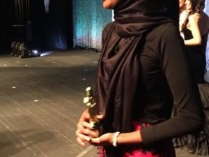 Güzellik yarışmasına katılan ilk tesettürlü kadın