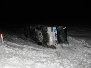 Yolcu otobüsü şarampole yuvarlandı: 33 yaralı