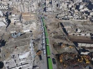 Halep'te tahliye sürüyor