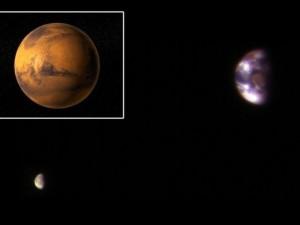 Dünya Mars'tan işte böyle görünüyor!