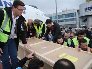 Mürettabatın cenazeleri Türkiye'ye getirildi
