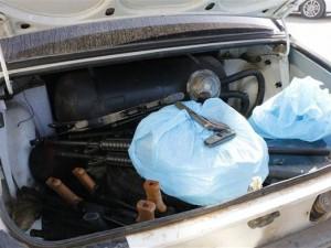 Suriye sınırında mühimmat yakalandı