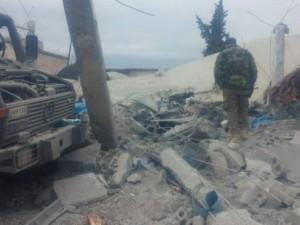 Rus uçaklarının vurduğu Türk karargahından fotoğraflar