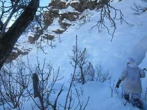 -20 derece soğukta, 3 metre karda hain avı