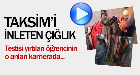 Acı çığlıkları Taksim'de yankılandı !