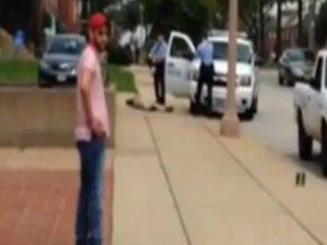 ABD polisi gözünü kırpmadan vurdu