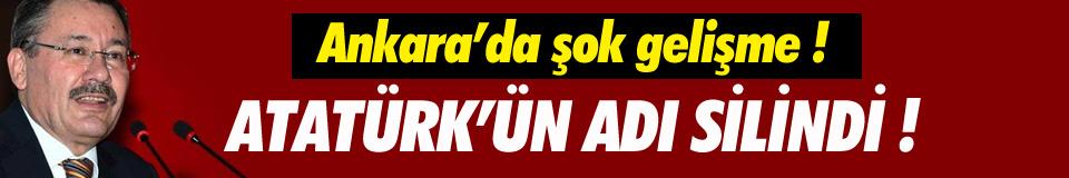 AOÇ'den Atatürk'ü kaldırdılar