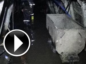 Karaman'daki maden ocağının içi görüntülendi