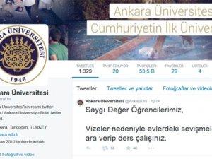 Ankara Üniversitesi'ne büyük şok !