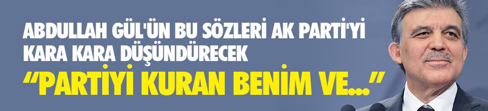 Abdullah Gül'e ''yeni parti'' sorusu