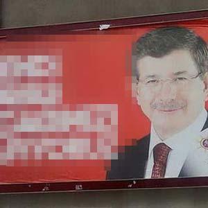 Tepki çeken AK Parti afişi değiştirildi