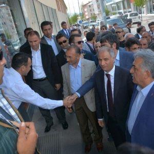Ak Parti İki Bakanla Ardahan'da Seçim Çalışması Kapsamında Esnaf Ziyareti haberi