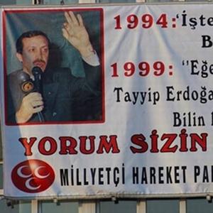 MHP'den Erdoğan'ı kızdıracak pankart