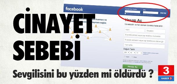 Facebook şifresi için öldürmüş !