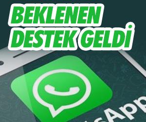 Whatsapp'ta beklenen özellik de geldi