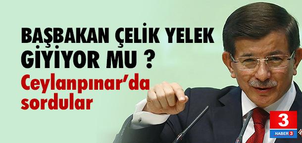 Başbakan Davutoğlu'na çelik yelek sorusu