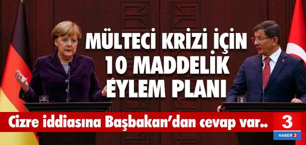 Davutoğlu ve Merkel'den flaş açıklamalar