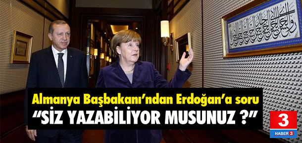 Merkel'den Erdoğan'a soru