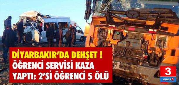 Diyarbakır'da kahreden kaza: 5 ölü 10 yaralı