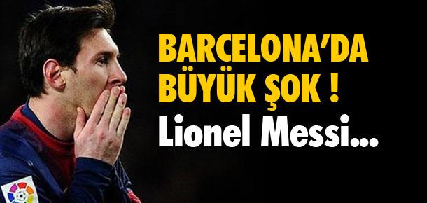 Barcelona'da büyük şok ! Messi...