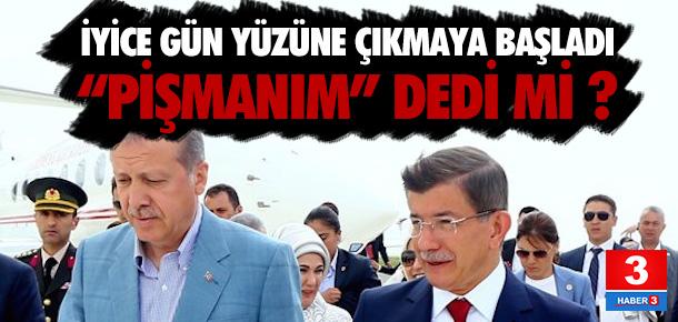 Erdoğan, Davutoğlu için pişman mı ?