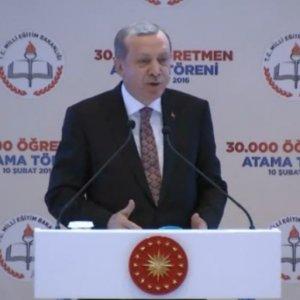 Erdoğan öğretmen atamaları töreninde konuştu !