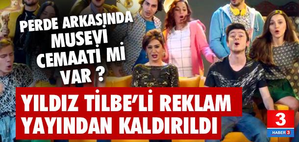 Yıldız Tilbe'nin reklamı yayından kaldırıldı