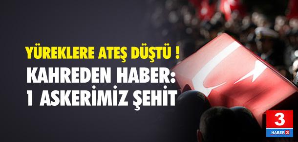 Diyarbakır'dan acı haber geldi: 1 asker şehit