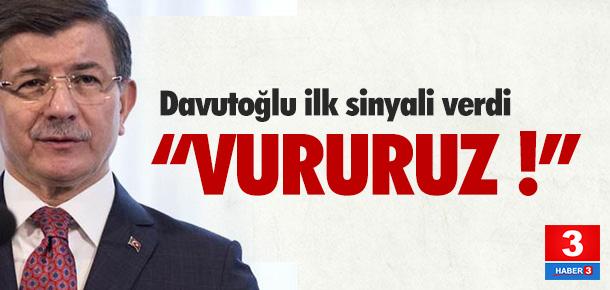 Davutoğlu, askeri operasyonun sinyalini verdi