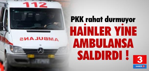 Hainler ambulansa saldırdı: 1 yaralı