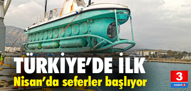 İşte Türkiye'nin ilk turistik denizaltısı