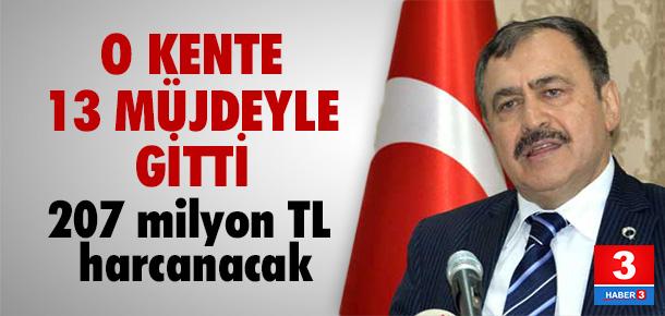 Bakan Eroğlu, Diyarbakır'a 13 müjde verdi