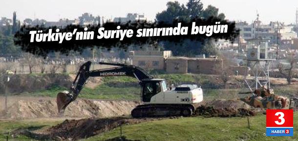 Nusaybin'in Suriye Sınırına Hendek Kazılıyor