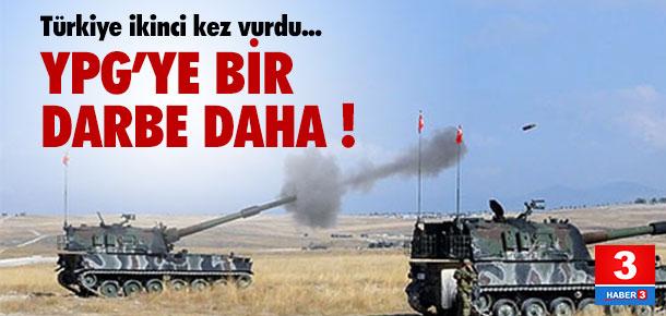 Türkiye ikinci kez YPG'yi vurdu !