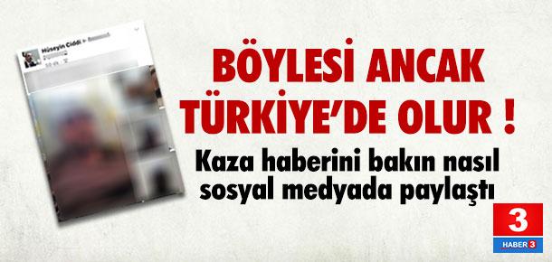 Böylesi ancak Türkiye'de olur ! Kaza yaptı ve..