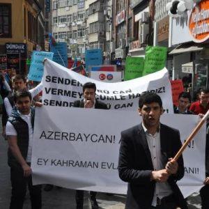 Trabzon'da Ermenistan'a Tepki Eylemi